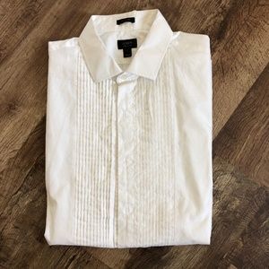Ludlow Slim Fit Pleated Tuxedo Shirt French Cuff